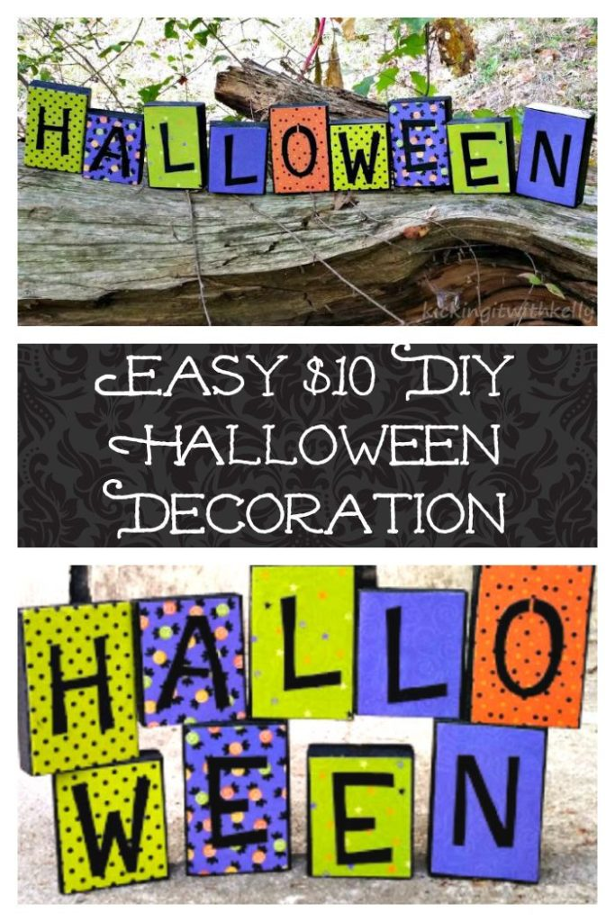 Make this easy DIY Halloween decoration for under $10 and get your home in the Halloween spirit!