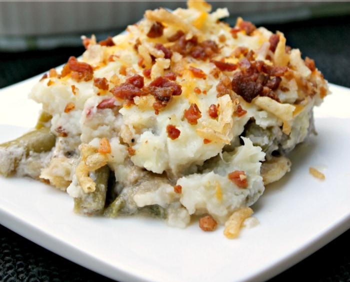 Layered Green Bean Casserole Shepherd's Pie