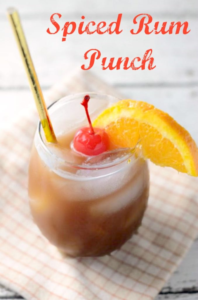 This spiced rum punch recipe is the perfect holiday drink for Spiced rum drink recipes