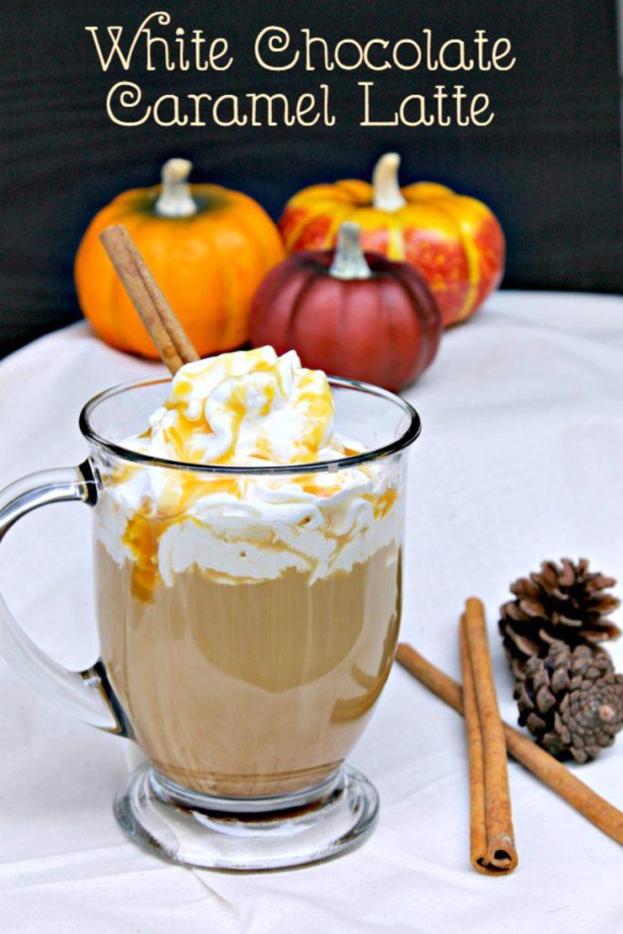 White Chocolate Caramel Latte recipe pin