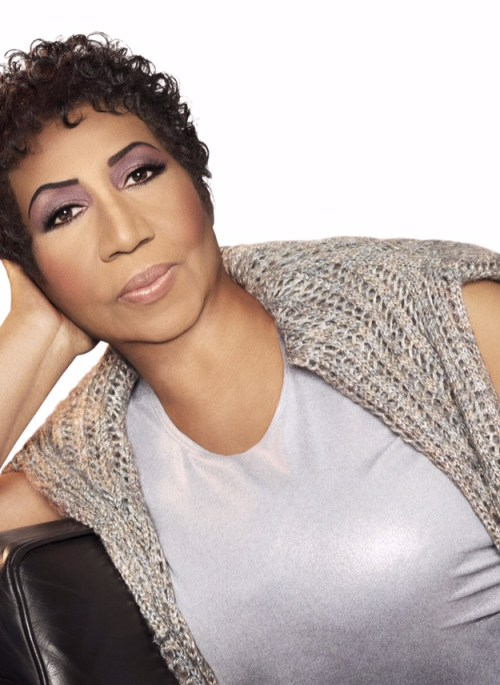 Photograph of Aretha Franklin. Photographed in Detroit, MI April 7th, 2014