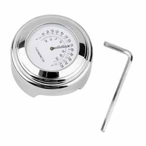 7/8″ 1″ Guidon Thermomètre à Cadran Moto Température Chromé Pr Suzuki Honda