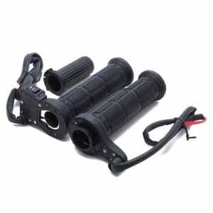 CARCHET® Paire Poignée Chauffante de Guidon Fourreau Heated Grip 12V Noir 7/8″ 22mm pour Moto Motocycle Scooter