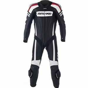 Combinaison en cuir pour moto pour hommes Blanc/Noir/Vert/Rouge 46EU, spyke kaver race 58 Noir / Blanc / Rouge