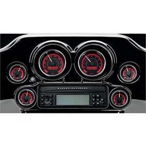 Gauge kit mvx-8k series chrome black red – mvx-8604… – Dakota digital 22120438