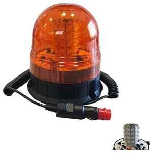 JBM 52375 Gyrophare 6 Fonctions à LED Magnétique, Orange, 12-24 V