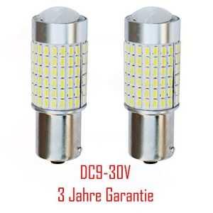 BA15S DC9-30V P21W B523144x 3014SMD LED Canbus compatible avec Audi BMW Ford Volvo VW etc. (Sachet de 2pièces)