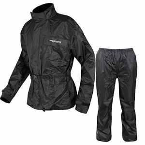 Combinaison Textile Impermeable Anti Pluie Blouson Pantalon Moto Motard noir XXL