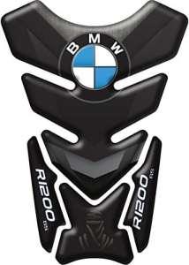 Coussin Autocollant de réservoir en résine 3D pour moto BMW R1200,GS Dakar, Code produit DA-008 L noir