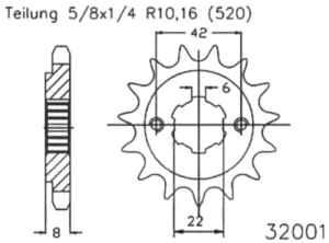 GLENCO 28115 Transmission Long Pièce de Moteur