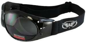 Global Vision Eliminator Motorcycle Goggles (Black Frame/Smoke Lens) by Global Vision Eyewear