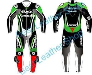 Kawasaki Ninja Moto Cuir pour moto Racing fabriqué sur mesure n'importe quelle Taille