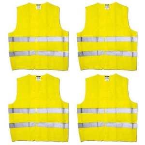 Max Pack® Gilet avec fermeture Velcro pratique dans Taille unique–— Norme EN 471, jaune, C