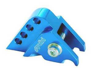 POLINI rehausse CNC 4trous bleu pour Aprilia Sonic 50AC/LC, SR 50, ATU Explorer