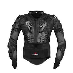 Professionnel Body Armour Motocross Moto VTT Cyclisme Racing Patinage dos Protection Populaire pour femme L noir