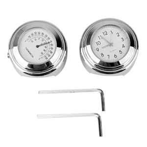 ROSENICE 7/8″-1″ Moto Guidon Horloge Température Thermomètre 2pcs