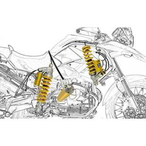 BMW R 1200 GS 2011 11 OHLINS KIT AMORTISEUR MECHATRONIC BM 670