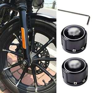ICT Ronix Paire Crâne Aluminium Stabilisateur avant Mère Capuchons Essieux Vis achsab de couverture de Cover Axle Nut essieu avant pour Harley Davidson