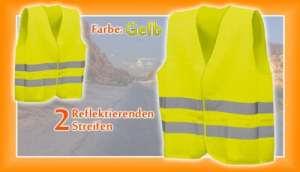 Myshopx Gilet de signalisation jaune norme DIN EN 471 taille XL lavable Article neuf