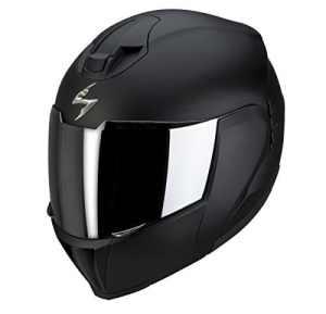 Scorpion Pump Up Exo 910 Air Matt Black Flip casque de moto