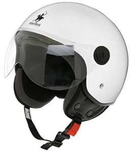 Scotland Casque Jet Déhoussable D, Blanc, 53-54 (XS)