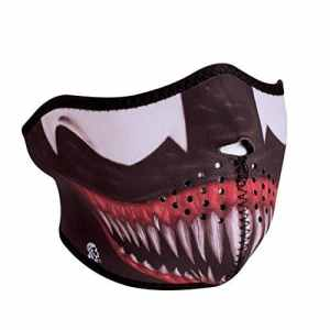 Zan Headgear WNFM093H, Half Mask, Neoprene, Toxic by Bike Shop Supply