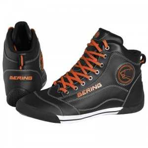 Bering – Baskets moto Bering POP – Taille: 44 – Couleur: Noir/orange