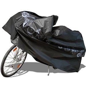 Housse Vélo Housse de Protection Vélo,Nakeey Housse pour Vélo/Housse de Pluie de Imperméable Etanche Couverture de Vélo/Bicyclette/Bike/Moto Pluie de Poussiere de Neige (Longueur 210cm),Noir