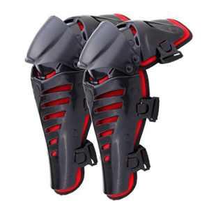 iglobalbuy Moto genouillères Genouillère Knee Protection bras schützer Protector équipement de protection pour motocross adultes Noir VTT pour adulte Rouge
