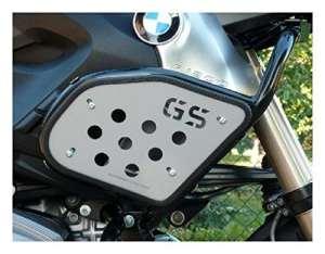 MotorbikeComponents, Kit Plaques de protections latérales pour réservoir avec logo GS–BMW R 1200GS/Adventure 2010