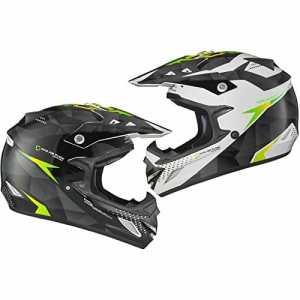 Shox MX-1 Shadow Motocross Helmet M Black White Green