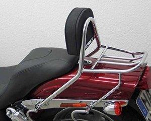 Sissy Bar avec coussin et porte-bagages, Harley Davidson Dyna Fat Bob FXDF 08–13