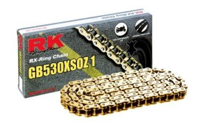 RK Racing Chain GB530XSOZ1-108 108-Links Gold X-Ring Chain with Connecting Link by RK Racing Chain