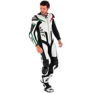 Spyke 4 Race Rac Combinaison de moto en cuir pour homme 56 Blanco/Negro/Verde/Rojo