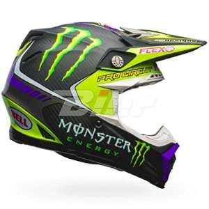 7084381 – Bell Moto-9 Flex Monster Pro Circuit 17 Motocross Helmet L Black Green