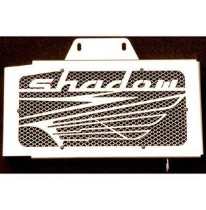 cache radiateur / grille de radiateur Honda VT 125 Shadow design «Wing» + grillage alu