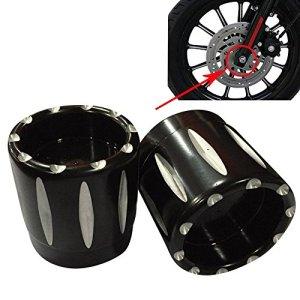 Ictronix Paire de couvercles d'axes avant pour Harley Davidson Sportster XL 883 1200 X48