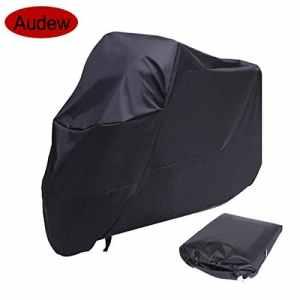 Audew Housse de Protection Pour Moto, Couverture Imperméable en Polyester 190T Pour Moto, Scooter, Taille: XXL, Couleur: Noir