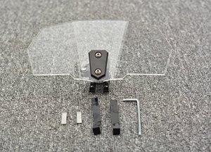 Moto Risen pare-brise Déflecteur d'air support de réglage de film de protection verrouillable pour BMW S1000X R F800gs universel