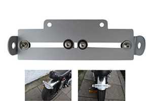 Support de plaque d'immatriculation arrière réglable pour moto – compatibilité universelle