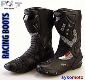 Bolt S12Bottes de Moto de course imperméable Noir 46 EU/12 UK noir