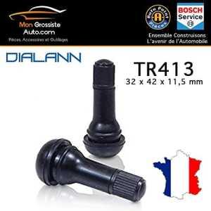TR 413 Snap-In Valve Tire Tiges court en caoutchouc noir