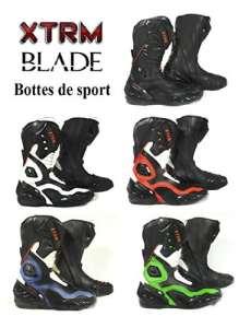 Bottes de moto XTRM BLADE nouveau 2017 Sur la route de course de tourisme lourd armure bottes de sport (noir, EU 43 (UK 9))