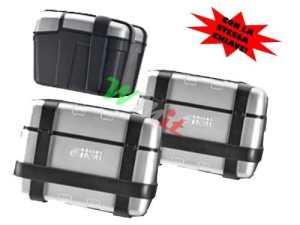 Lot de trois valises Givi Trekker trkpack avec la même clé composé de deux treeker 33lt et une treeker 46Lt
