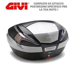 Topcase Noir avec réflecteurs Cover Transparent noire et einsatzen en eloxie rtem Aluminium Givi v56nt MAXIA 4+ sr226+ E251Fur Triumph Bonneville 865