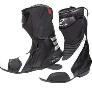 Black Strike Bottes de moto sport/racing étanches Blanc Pointure 43