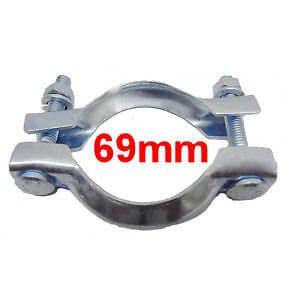Collier Echappement Diamètre 69mm RNP4 Serrage pot ou tuyau