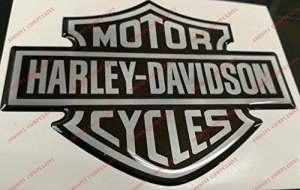 Emblème Logo Decal Harley Davidson, Classic Logo, adhésif en résine, effet 3d. Pour réservoir ou casque