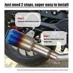 KKmoon 51mm Frosted échappement Tuyau Silencieux avec Tail Net Universel pour Moto VTT