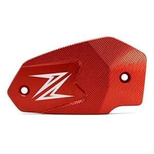 Moto Couvercle de Réservoir de Frein Avant Front Brake Fluid Reservoir Cap pour Kawasaki Z900 Z800 Z650 ER6N ER6F Versys 650 Ninja 650(Rouge)